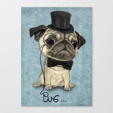 Pug; Gentle Pug (v3) Canvas Print