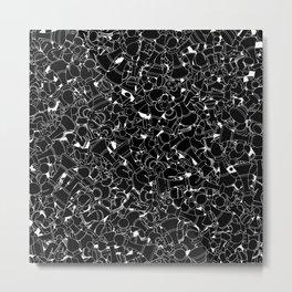 Chess Pattern BLACK Metal Print