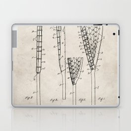 Lacrosse Stick Patent - Lacrosse Player Art - Antique Laptop & iPad Skin