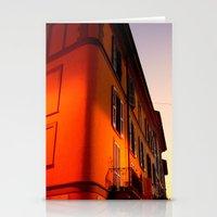 milan Stationery Cards featuring MILAN SUNSET by arteri