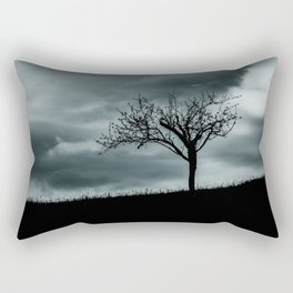 Alone tree before the storm Rectangular Pillow