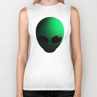alien Biker Tanks featuring Alien by Nicklas Gustafsson