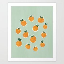 Tiny Clementines Art Print