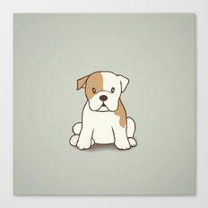 English Bulldog Illustration Canvas Print