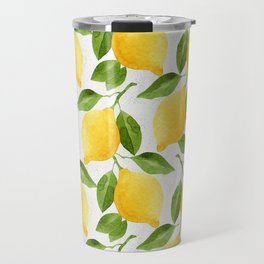 Watercolor Lemons Travel Mug