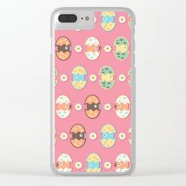 Cute eggs pattern Clear iPhone Case