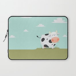 Happy fat cow Laptop Sleeve