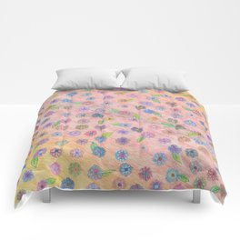 colorful flowers Comforters