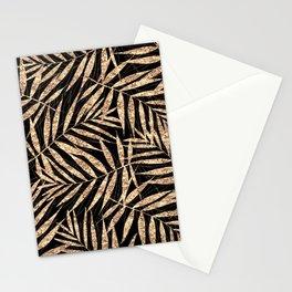 Gold Palm Leaves Black Elegant Design Stationery Cards