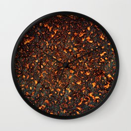 A texture of lava. A raster illustration. Wall Clock