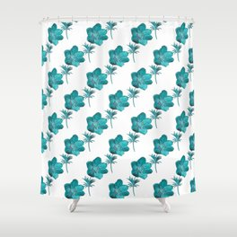 Anemone Watercolor Shower Curtain