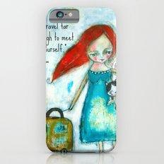 Travel girl quote Slim Case iPhone 6s