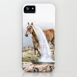 Waterfall Horse iPhone Case