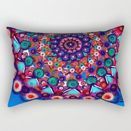 Fruit Salad Mandala Rectangular Pillow