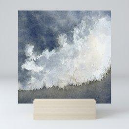 Stormy Beach Mini Art Print