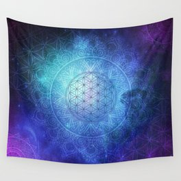 Deep Space Sacred Geomery Wall Tapestry