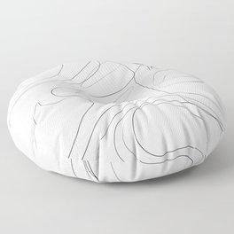 Woman Elegant OneLine Floor Pillow