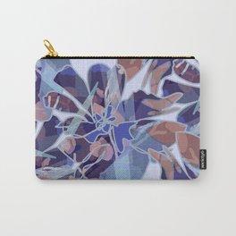 Blue Batik Floral Carry-All Pouch
