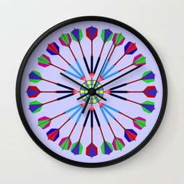 Game of Darts Design Wall Clock