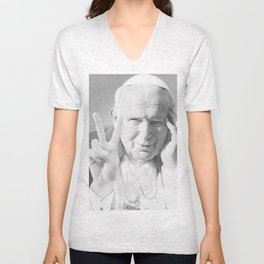 Pope John Peace'n'Love Unisex V-Neck