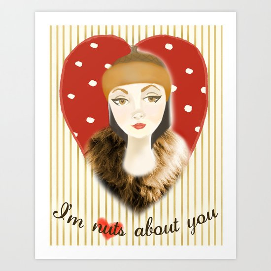 Camilla Willow: I'm Nuts About You Art Print