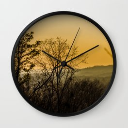 Sunset in the foothills Wall Clock
