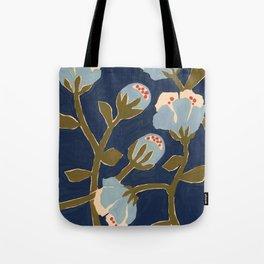 Blue Perennial Tote Bag