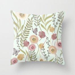 Vernal Field Throw Pillow