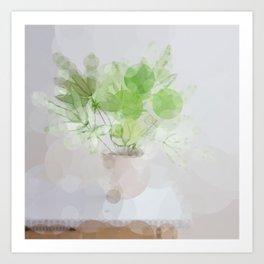 Eucalyptus Green Leaves Art Print