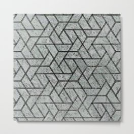 Contemporary blur textured geometry Metal Print