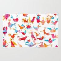 takmaj Area & Throw Rugs featuring Birds by takmaj