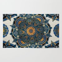 mandala Area & Throw Rugs featuring Mandala by Mantra Mandala