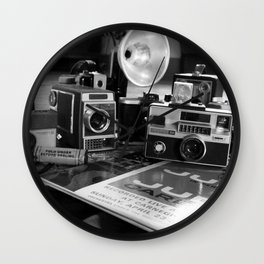 DAYS GONE BY BLACK AND WHITE Wall Clock