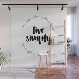 Live Simply Wall Mural