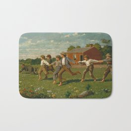 Snap the Whip by Winslow Homer, 1872 Bath Mat