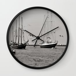 Hanse SAIL - Warnemuende - Baltic Sea  Wall Clock