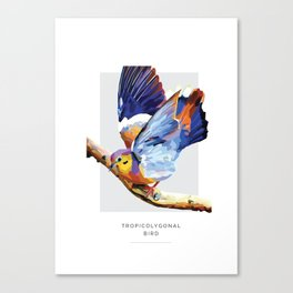 Tropicolygonal Bird Canvas Print