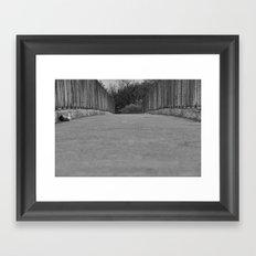 Passerelle au dessus d'une #autoroute Framed Art Print