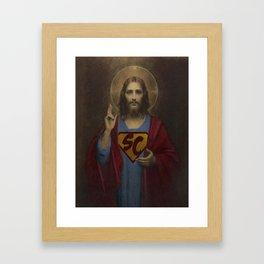 superchrist Framed Art Print