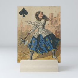 Joan of Spades Mini Art Print
