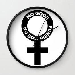 No Gods // No Boyfriends Wall Clock