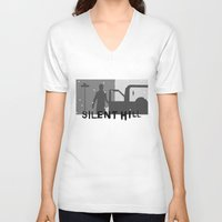 silent hill V-neck T-shirts featuring Silent Hill by Chandler Payne