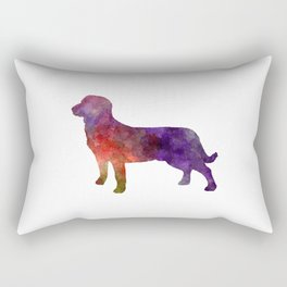 Entlebuch Cattle Dog in watercolor Rectangular Pillow