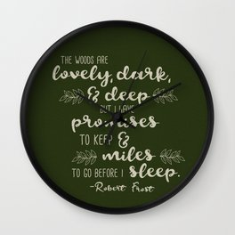 Miles to Go Before I Sleep Wall Clock