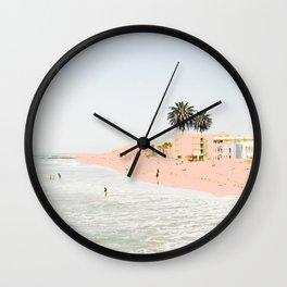 Pink Beach #society6 #decor #buyart Wall Clock