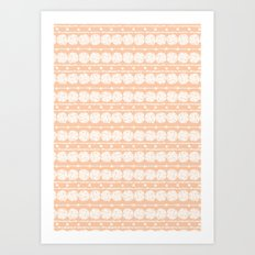 perfect peach Art Print