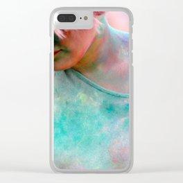 Not Green Lantern Girl Clear iPhone Case