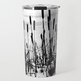 Winter Cattails Travel Mug