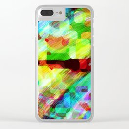 Random Abstract Clear iPhone Case
