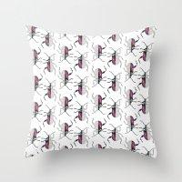 beetle Throw Pillows featuring Beetle by Bekka Kate Art